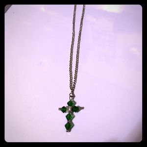 Jewelry - Emerald cross necklace